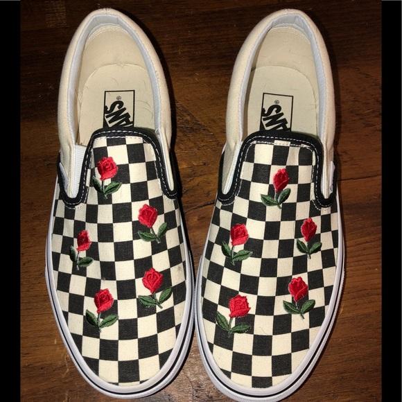 Vans Shoes | Rose Checkered Vans | Poshmark